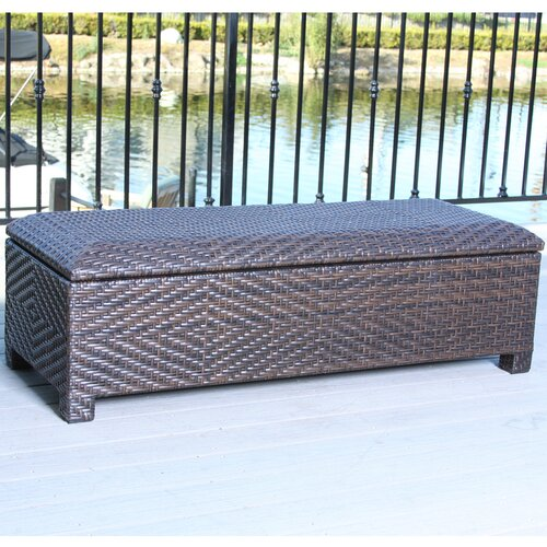 Home Loft Concept Casarano Wicker Storage Ottoman