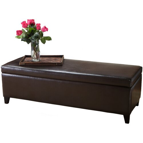 Home Loft Concept Bailey Leather Storage Ottoman