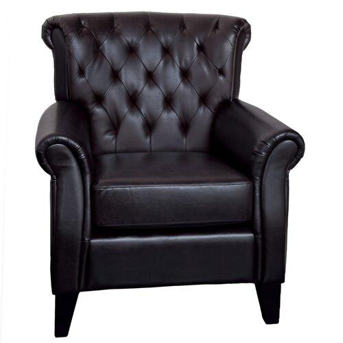 Prague Tufted Linen Club Chair
