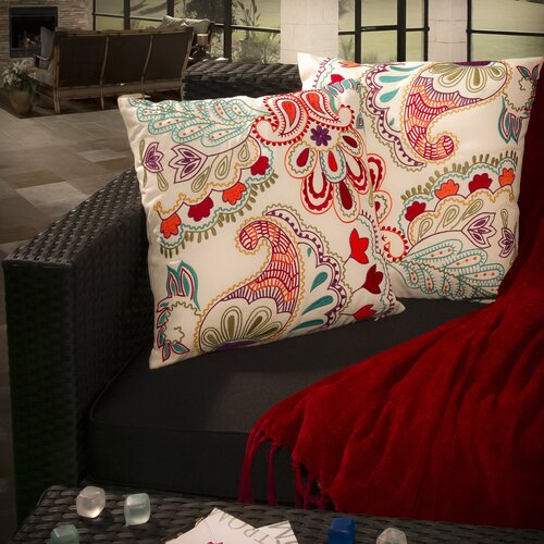 "Home Loft Concept Theresa 18"" Embroidered Paillette Pillows (Set of 2)"