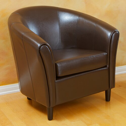 Home Loft Concept Manchester Bonded Leather Barrel Chair