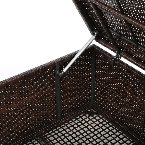Home Loft Concept Brenner Indoor/Outdoor Wicker Storage Ottoman