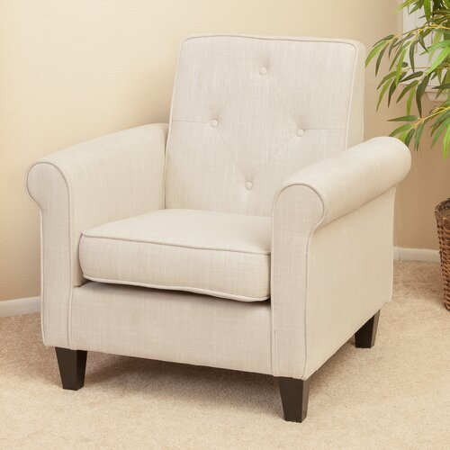 Marshall Tufted Fabric Club Chair