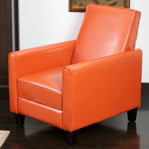 Home Loft Concept Rodgers Leather Recliner Club Chair