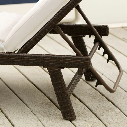 Home Loft Concept Aruba Outdoor Wicker Chaise Lounge with Cushion