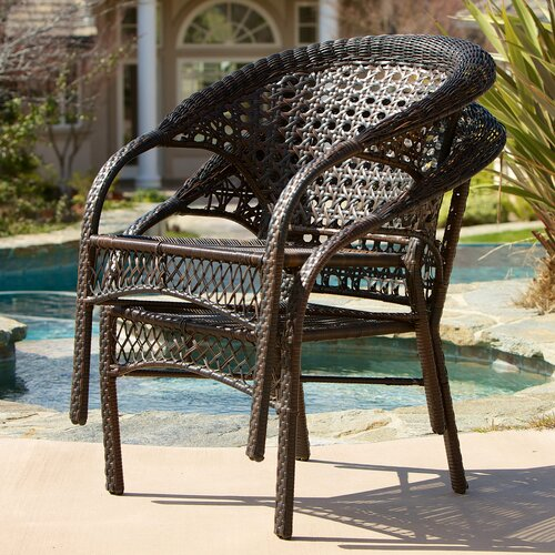 Home Loft Concept Darlington Outdoor Wicker Chairs (Set of 2)