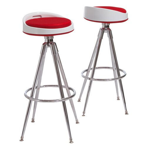 Home Loft Concept Linval Fabric Barstools (Set of 2) (Set of 2)