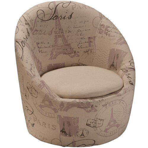 Logan Printed Fabric Swivel Chair