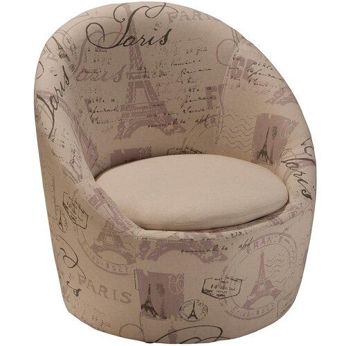 Home Loft Concept Logan Printed Fabric Swivel Chair