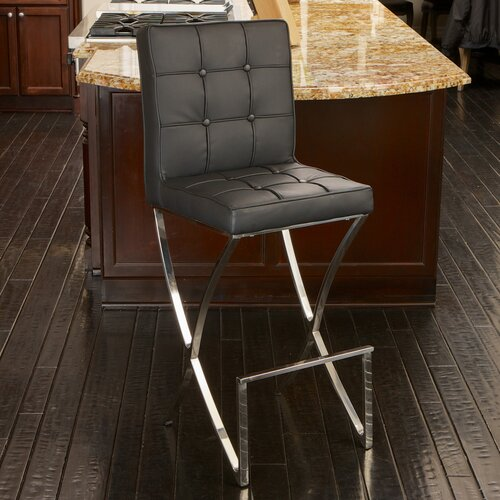 Home Loft Concept Jacoby Leather Barstool