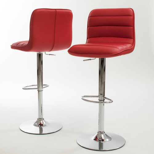 Home Loft Concept Edward PU Barstools (Set of 2) (Set of 2)
