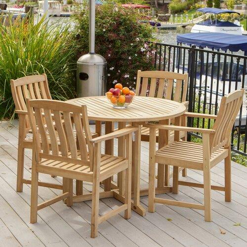 Home Loft Concept Pasadena 5 Piece Outdoor Dining Set