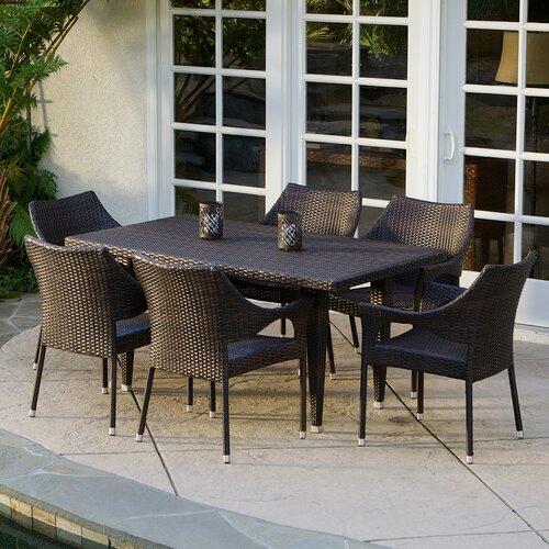 home loft concept norm 7 piece outdoor dining set reviews wayfair. Black Bedroom Furniture Sets. Home Design Ideas