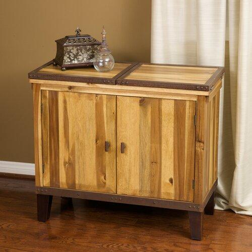 Home Loft Concept Knox Acacia Wood Bar Hutch