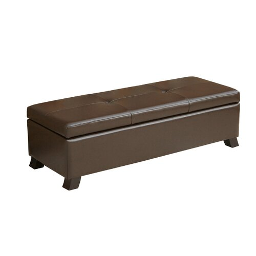 Home Loft Concept Tarrison Leather Storage Ottoman