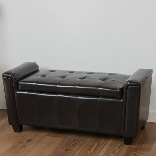 Home Loft Concept Kate Tufted Leather Storage Ottoman
