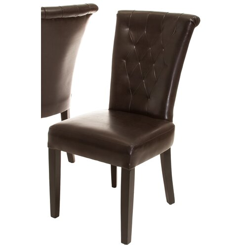 Home Loft Concept Kenny Leather Dining Chair (Set of 2) (Set of 2)