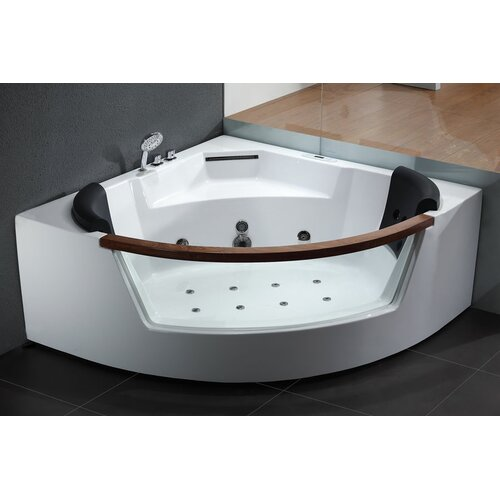 american acrylic 48 x 48 corner whirlpool tub reviews