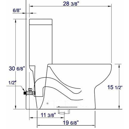 Tall Dual Flush Toilet 1 Piece Wayfair
