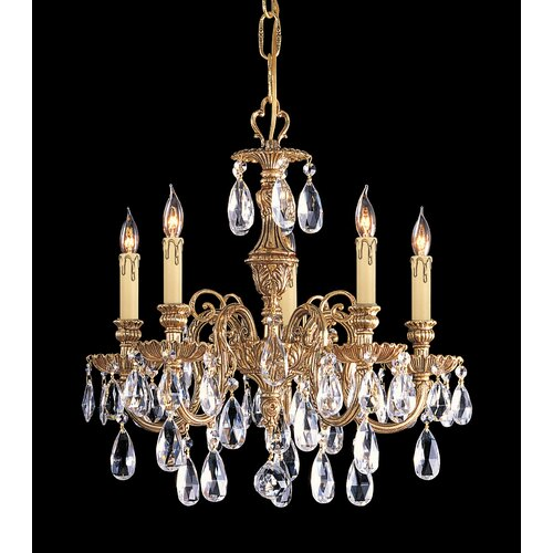 Crystorama Novella 5 Light Chandelier