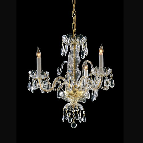 Crystorama 3 Light Chandelier with Swarovski Strass Crystal