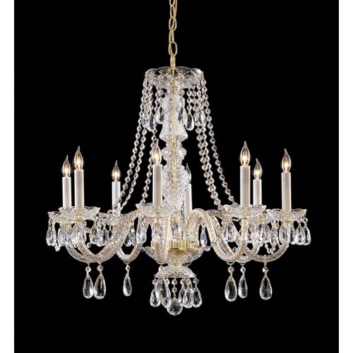 Swarovski Crystal Dollhouse Chandelier: Crystorama 8 Light Chandelier With Swarovski Strass