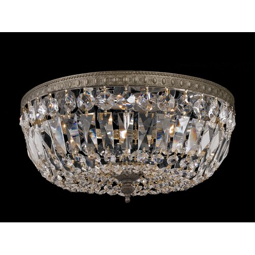 Crystorama Richmond 3 Light Crystal Flush Mount