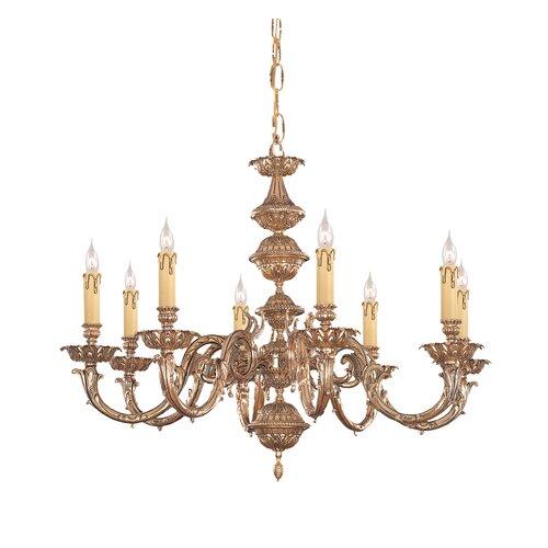 Olde World 8 Light Candle Chandelier