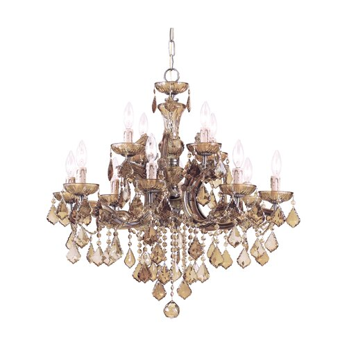Bohemian Crystal 12 Light Candle Chandelier