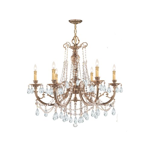 Crystorama Olde World 6 Light Candle Chandelier