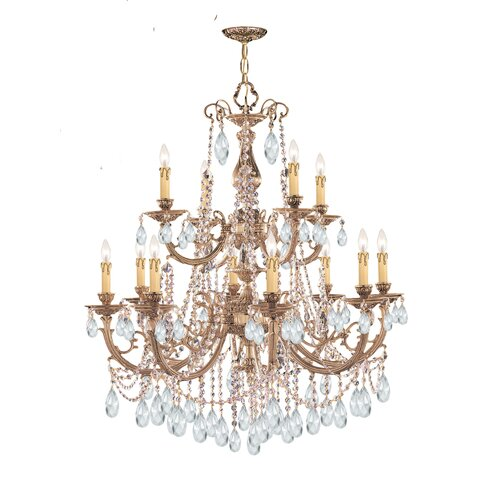 Olde World 12 Light Candle Chandelier