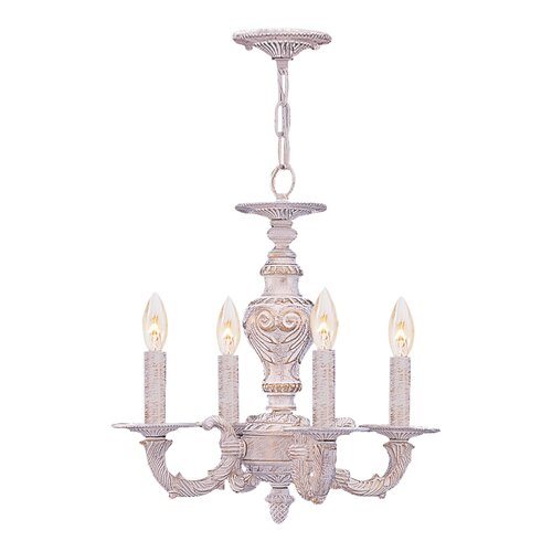 Sutton 4 Light Wrought Iron Chandelier