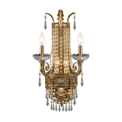 Traditional Wall Sconces With Candles : Crystorama Traditional Classic 5 Light Candle Wall Sconce