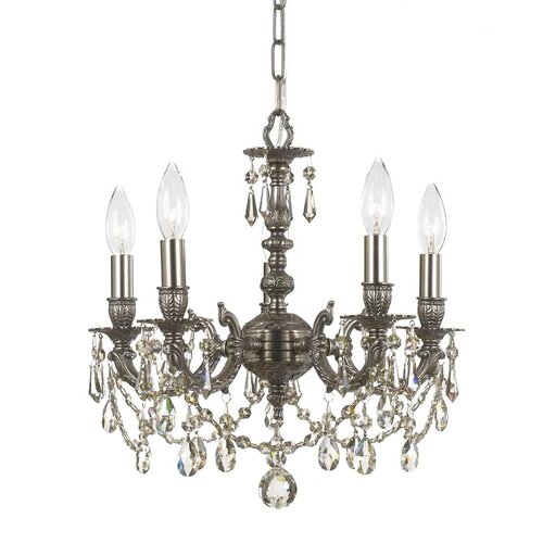Crystorama Gramercy 5 Light Mini Chandelier