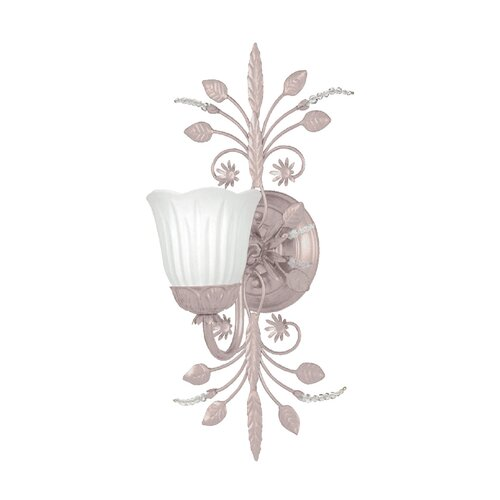 Crystorama Primrose 1 Light Wall Sconce