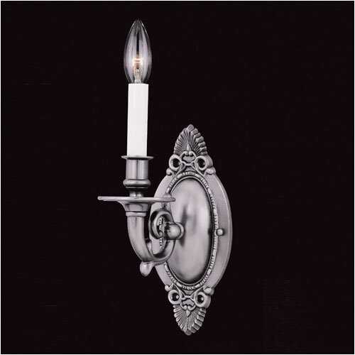 Crystorama Historical 1 Light Traditional Candle Wall Sconce