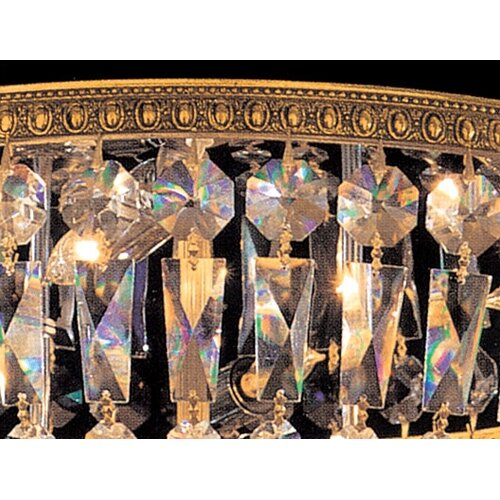Crystorama Bohemian Crystal 6 Light Flush Mount