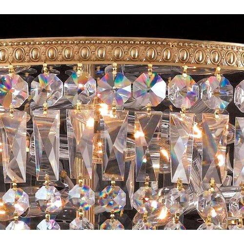 Crystorama Bohemian Crystal 24 Light Flush Mount
