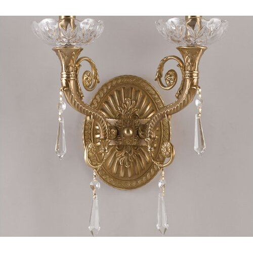 Crystorama Traditional Classic 2 Light Candle Wall Sconce