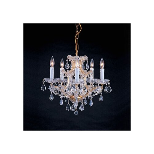Crystorama Traditional 6 Light Crystal Chandelier