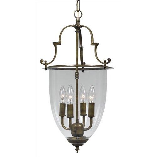 crystorama bell jar 4 light hanging foyer pendant. Black Bedroom Furniture Sets. Home Design Ideas