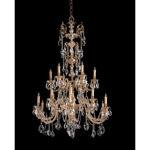 Crystorama Olde World 18 Light Candle Chandelier