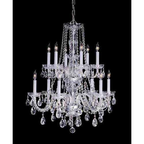 Bohemian 12 Light Candle Chandelier