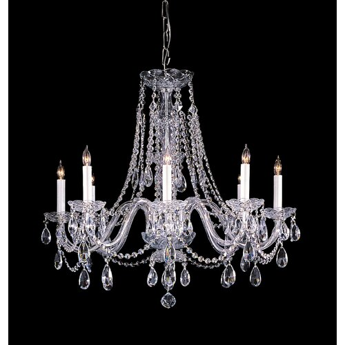 Bohemian 8 Light Candle Chandelier