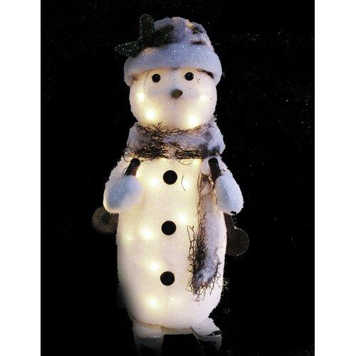 4 Seasons Global Skiing Snowman Christmas Decoration