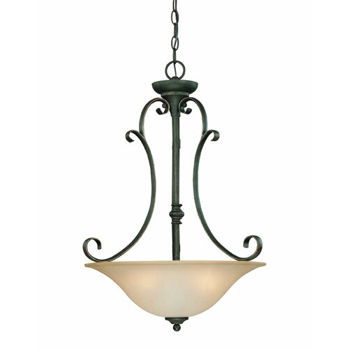 Jeremiah Barret Place 3 Light Bowl Inverted Pendant