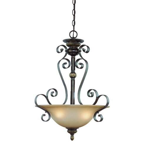 Kingsley 3 Light Inverted Pendant
