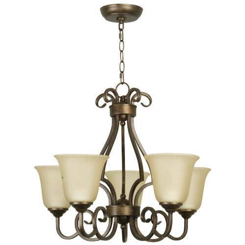 Builder 5 Light Builders Uplight Chandelier