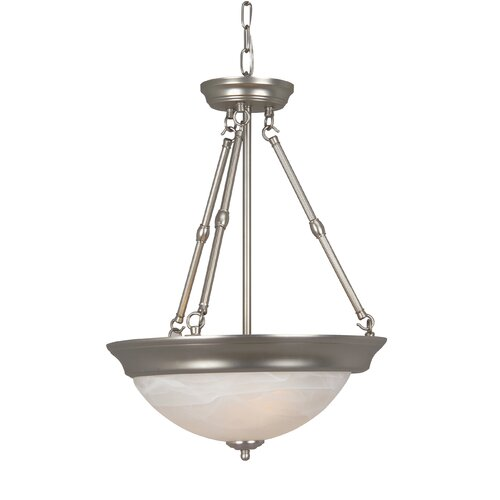 Standard Alabaster Step Pan 3 Light Pendant