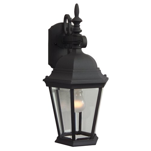 Jeremiah Straight Glass 1 Light Outdoor Wall Lantern